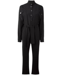 Carolinaritz | High Neck Belted Jumpsuit Womens Size 38 Nylon/Wool/Spandex/Elastane