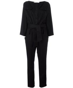 Carolinaritz | Boat Neck Belted Jumpsuit Womens Size 40 Polyamide/Cashmere/Wool