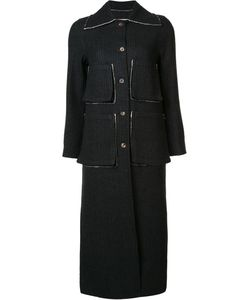 Song For The Mute | Striped Coat Womens Size 34 Cotton/Wool