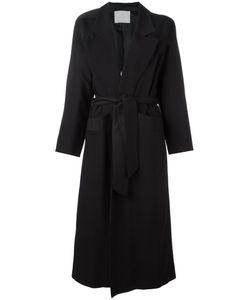 Carolinaritz | Open Belted Coat Womens Size 38 Wool/Spandex/Elastane/Acetate