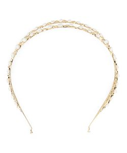 Rosantica | Pearl Embellished Hair Band Womens 24kt Plated Metal/Pearls