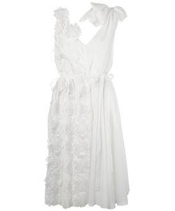 Rochas | Applique Belted Dress Womens Size 40 Silk/Cotton