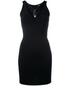 Versus | Safety Pin Detail Fitted Dress Womens Size 38 Viscose/Polyamide/Spandex/Elastane