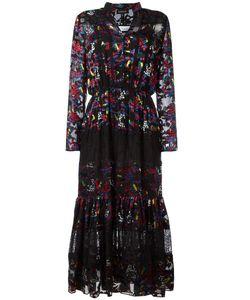 Saloni   Devore Dress Womens Size 10 Silk/Rayon/Nylon