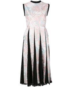 House Of Holland | Palm Leaf Pleated Dress Womens Size 8