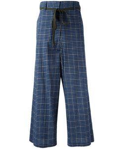 Hache   High-Rise Plaid Trousers Womens Size 42 Cotton
