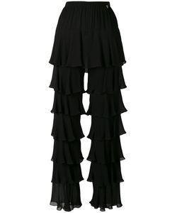 Twin-Set | Laye Ruffled Straight Trousers Womens Size 42 Viscose