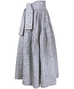 Jourden | Tied Waistband Textu Skirt Womens Size 36 Cotton/Acrylic/Polyamide/Polyester