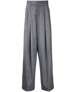 Wooyoungmi | Pleated Wide-Leg Trousers Mens Size 48 Wool