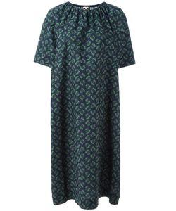 Hache   Gathe Neck Shift Dress Womens Size 44 Cotton