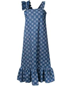 Huishan Zhang | Embroide Denim Dress Womens Size 10 Cotton/Polyester