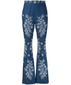 Huishan Zhang | Embroide Fla Jeans Womens Size 10 Cotton