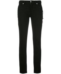 Versus | Logo Pins Skinny Trousers Womens Size 26 Cotton/Spandex/Elastane