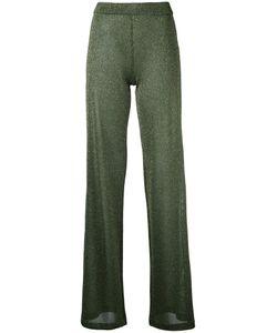 Roberto Collina | Lame Shiny Trousers Womens Size Large Polyester/Viscose