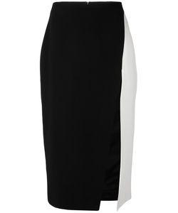 David Koma | Contrast Pencil Skirt Womens Size 10 Acrylic/Spandex/Elastane/Viscose/Lyocell