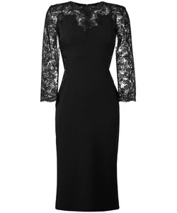 Ermanno Scervino | Lace Sleeve Mid-Length Dress Womens Size 42 Polyester/Spandex/Elastane