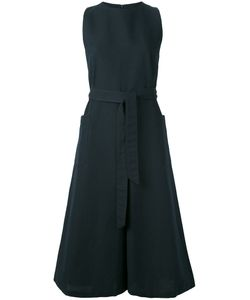 YMC | Waist-Tie Cropped Jumpsuit Womens Size 10 Linen/Flax/Cotton