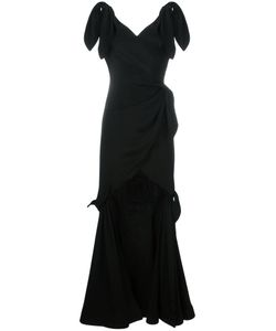 Moschino   Tie Detailed Gown Womens Size 40 Silk/Acetate/Rayon