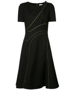 Mugler | Stitched Cut-Out Dress Womens Size 40 Cotton
