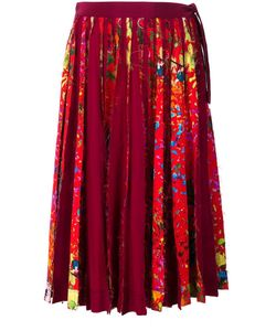 Jonathan Cohen | Floral Print Pleated Skirt Womens Size Small Silk