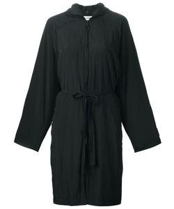 Ann Demeulemeester Blanche   Hooded Waist Tie Coat