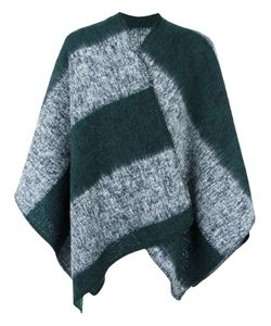 Mp Massimo Piombo | Striped Cape Mens Wool/Mohair/Polyamide