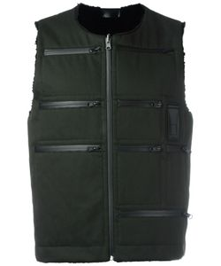Letasca   Zipper Detailing Gilet Mens Size Xl Polyester