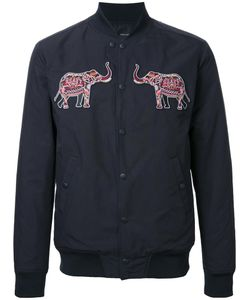 Yoshio Kubo | Elephant Patches Bomber Jacket Mens Size 3 Polyester