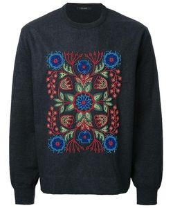 Taakk | Floral Embroidery Jumper Mens Size 2 Wool