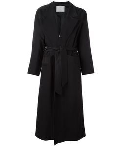 Carolinaritz | Open Belted Coat Womens Size 36 Wool/Spandex/Elastane/Acetate