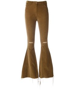Forte Couture | Flared Trousers Womens Size 24 Cotton/Spandex/Elastane