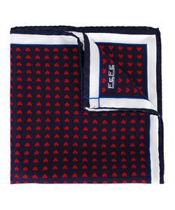 Fefè   Heart Print Pocket Square Adult Unisex Silk