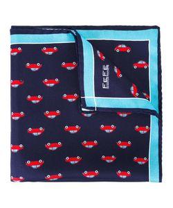 Fefè   Car Print Pocket Square Adult Unisex Silk