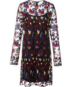 Novis | Floral Lace Overlay Dress Womens Size 4 Spandex/Elastane/Wool/Acrylic/Polyamide