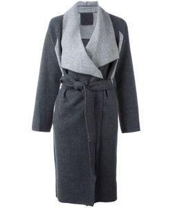 Demoo Parkchoonmoo | Two-Tone Coat Womens Size 40 Wool/Polyester/Nylon