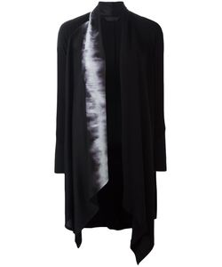 Demoo Parkchoonmoo | Printed Lapel Coat Womens Size 42 Acetate/Polyester