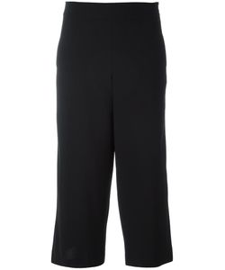 Demoo Parkchoonmoo | Cropped Wide Leg Trousers Womens Size 42 Polyester/Polyurethane/Wool/Rayon