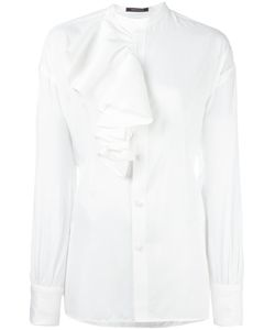 Y's   Ruffled Detailing Blouse Womens Size Small Rayon