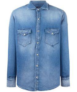 +People | Patch Pocket Denim Shirt Mens Size 39 Cotton