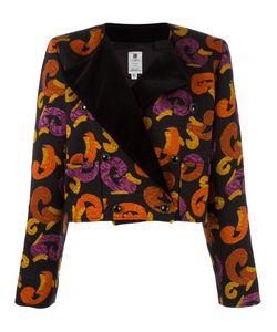 Emanuel Ungaro Vintage | Jacquard Printed Cropped Jacket Womens Size 40