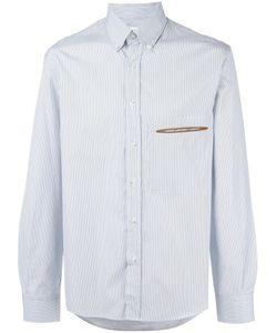 Umit Benan | Striped Shirt Mens Size 46 Cotton