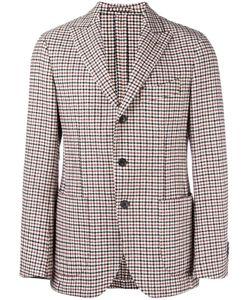 Gabriele Pasini | Peaked Lapels Checked Jacket Mens Size 48 Cotton/Polyamide/Wool