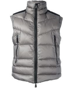Moncler Grenoble | High Neck Zipped Gilet Mens Size 3 Polyamide/Feather