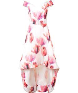 Christian Siriano | Tulip Print Dress Womens Size 6 Silk
