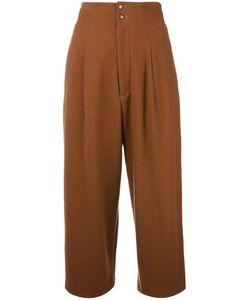 Yohji Yamamoto Vintage | Cropped Pleated Trousers Womens Size Xs