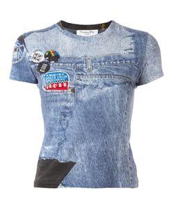 Christian Dior Vintage | Blue Print T-Shirt Womens Size 38