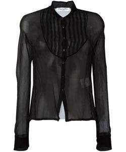 Christian Dior Vintage | Sheer Button Front Blouse Womens Size 40