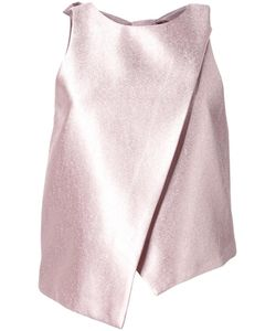 GINGER & SMART | Astral Top Womens Size 10 Grey Polyester/Viscose