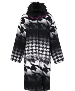Ava Adore | Houndstooth Pattern Mid Coat Womens Size 40 Virgin