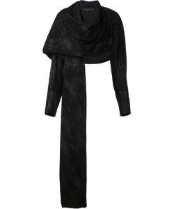 Urban Zen   Draped Asymmetric Jacket Womens Size Small Goat Suede